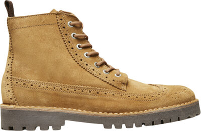 SLHRICKY SUEDE BROGUE BOOT W