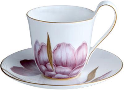 Flora højhankskop med underkop 27 cl. - Iris
