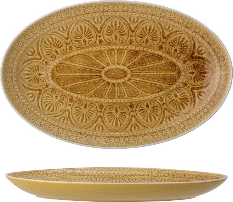 Rani Serving Plate, Yellow, Stoneware