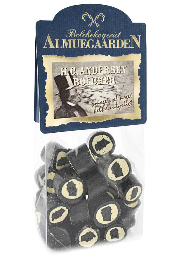 H. C. Andersen bolcher med smag af salt lakrids