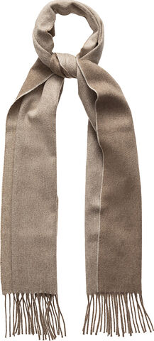 Brown double-sided luxury cashmere scarf
