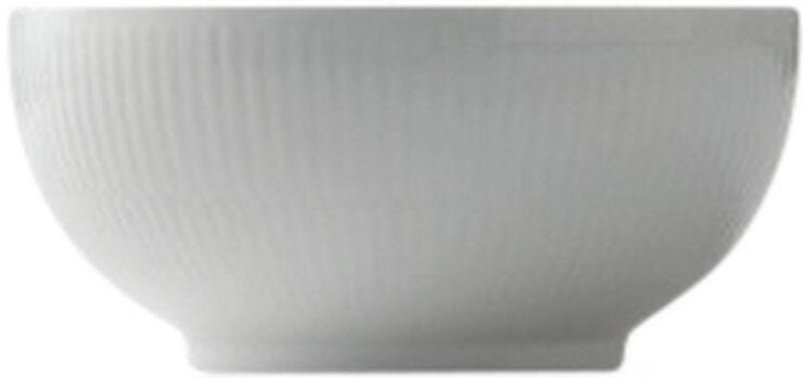 Hvid riflet 73 cl. skål