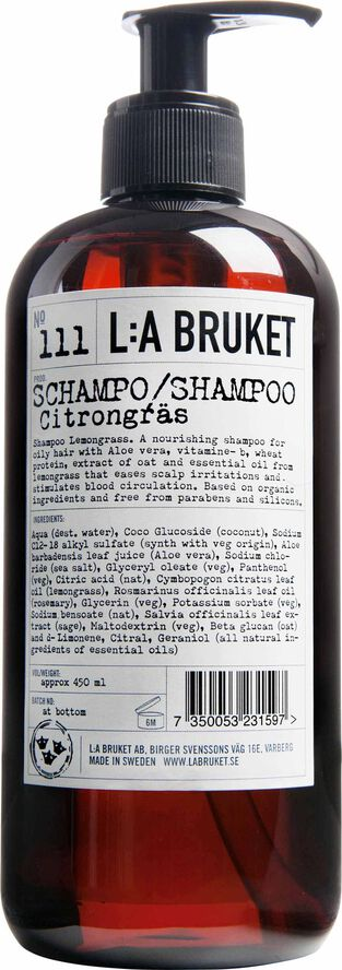 Shampoo Lemongrass 450 ml.