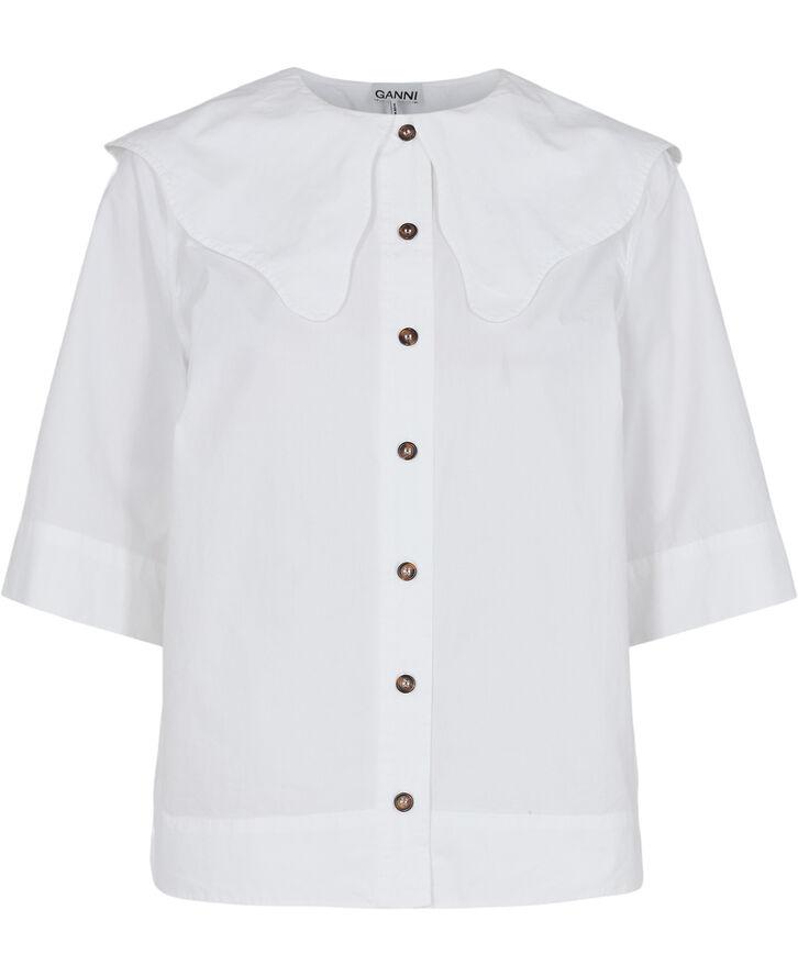 F6339 Skjorte med Peter Pan krave
