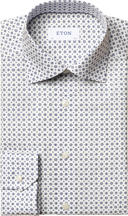 Medallion print signature twill shirt Contemporary fit