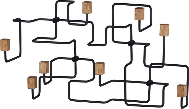UNDERGROUND Coat Rack Oak Black