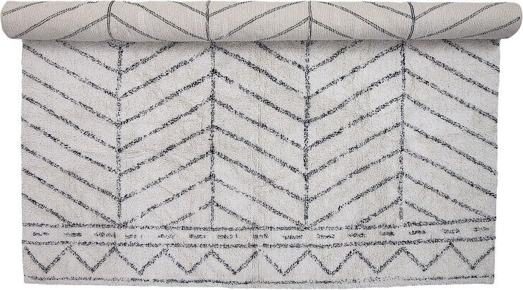 Tæppe, hvid, bomuld