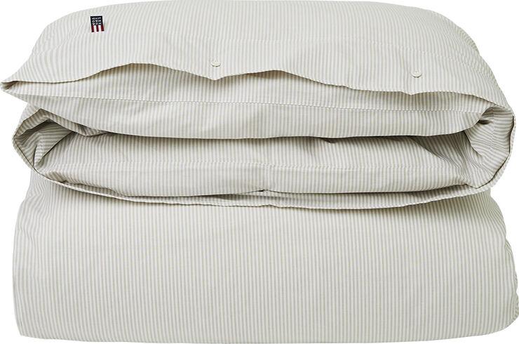 American Pin Point Oxford Stripe Duvet 140x200, Gray/White