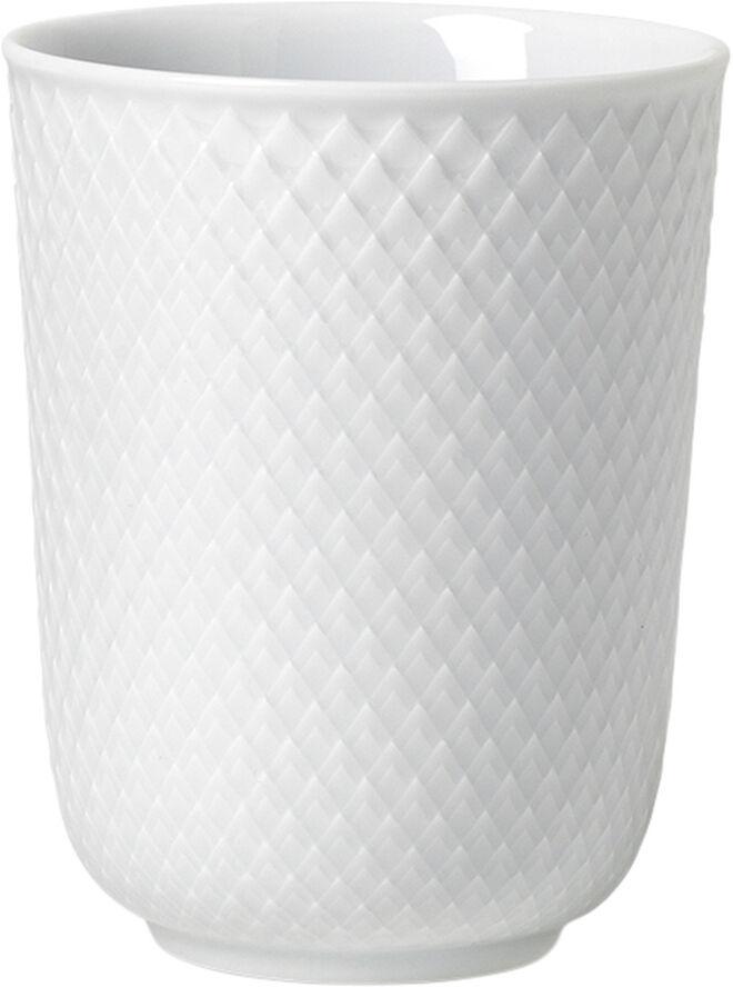Rhombe Krus 33 cl hvid porcelæn