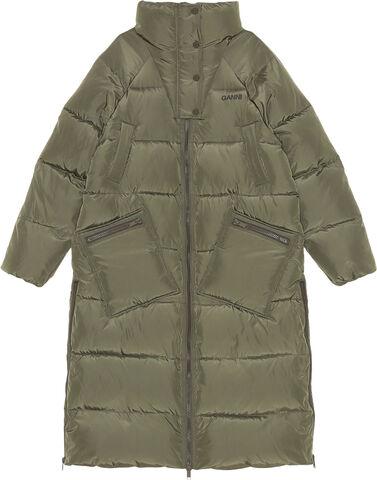 F6448 Lang oversize puf-frakke