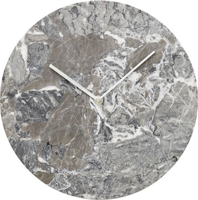 Marble Wall Clock, Grey