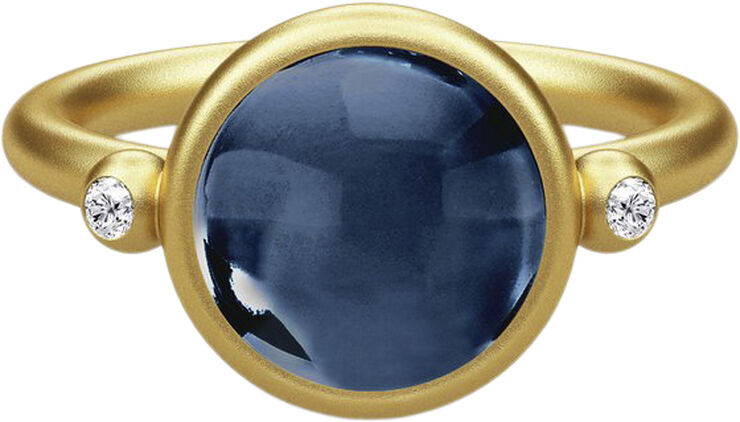 Prime Ring 52 - Gold/Sapphire Blue