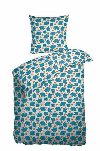 SoveTrine Turquoise Sengesæt Percale