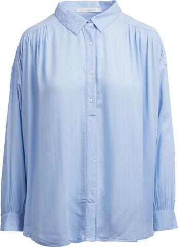 Herringbone gathered shirt