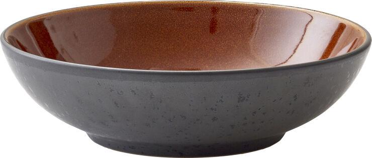 Pastaskål 20cm Sort/Amber BITZ