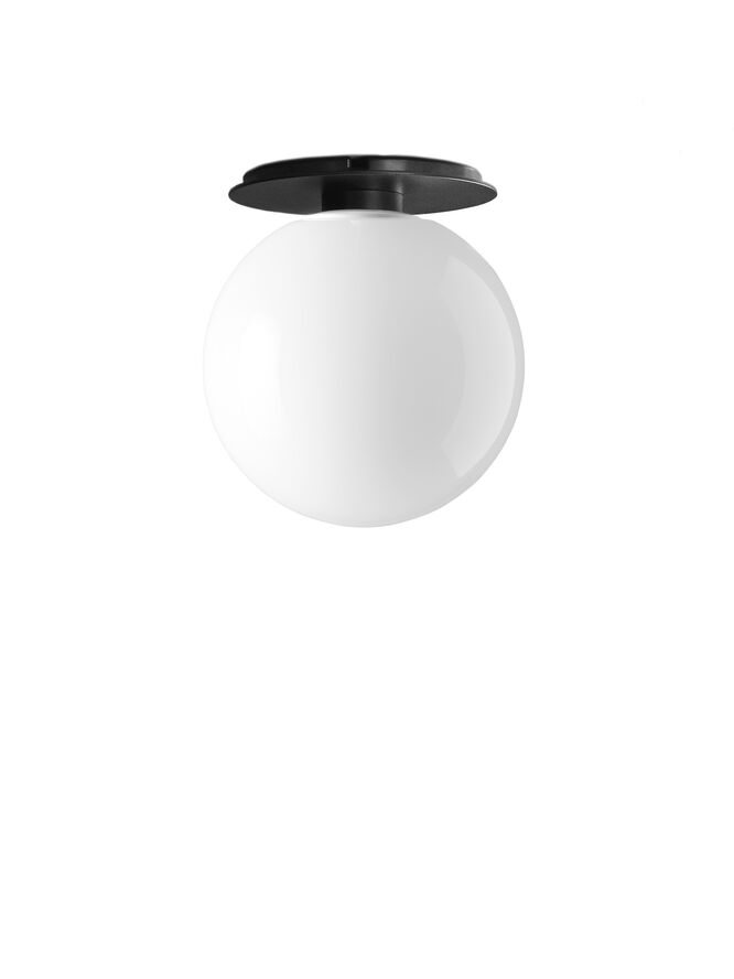 TR Bulb, Ceiling/Wall Lamp, Black w. Shiny Opal Bulb