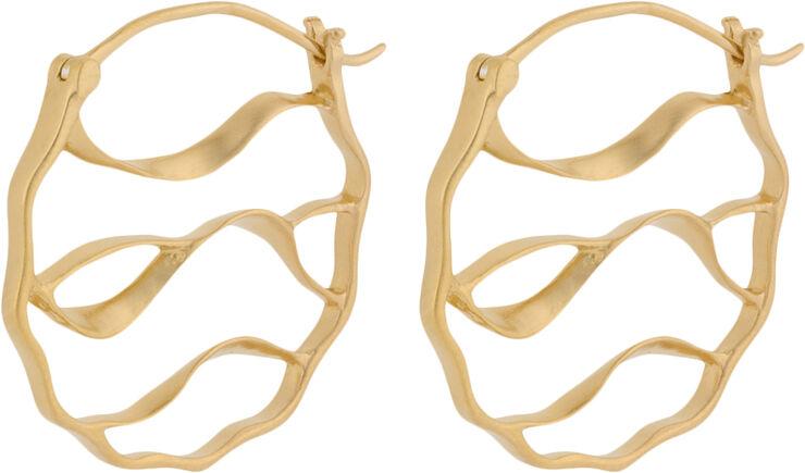 Wave Earrings size 30 mm
