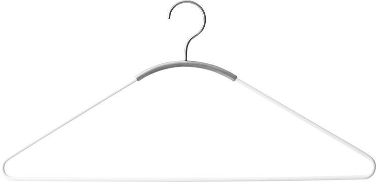 Ava Hanger, White/Brushed Steel