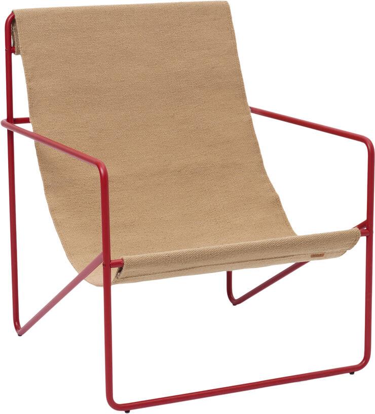 Desert Lounge Chair - Poppy Red/San