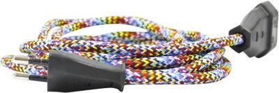 Forlængerledning m. Multi farvet ledning