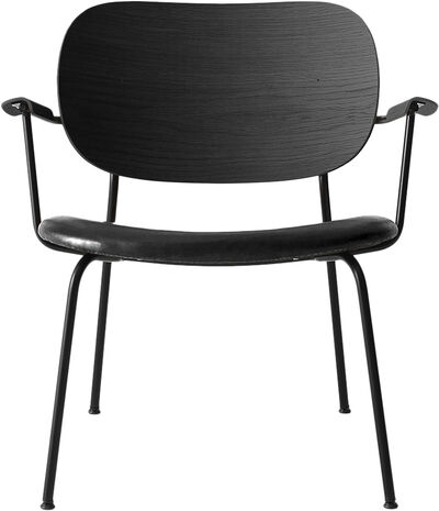 Co Chair Lounge Chair, Black Base/Black Oak/Dakar 0842