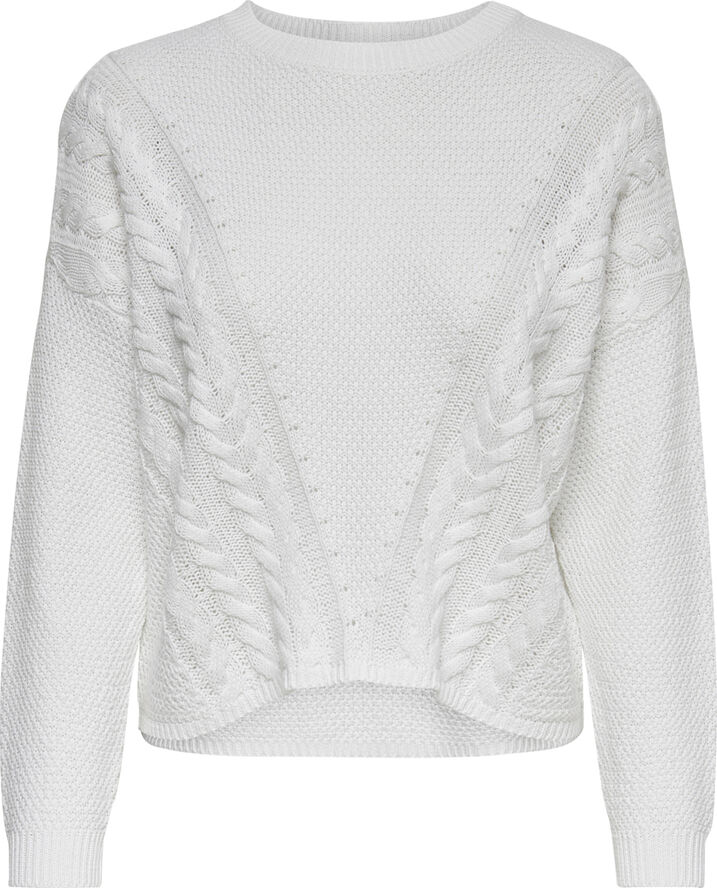 ONLSARA L/S SHORTCABLE  PULLOVER NN