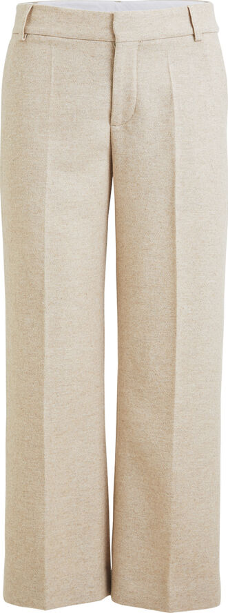 Felt wool cropped pant