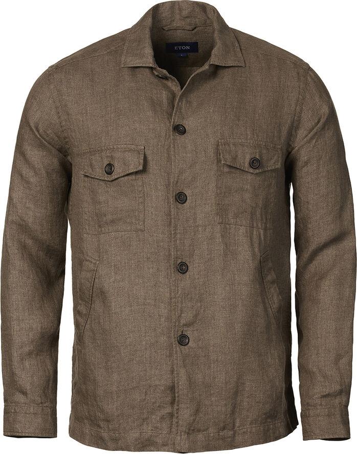 Linen twill shirt