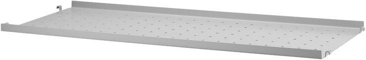 String Metal Shelf Low Edge, grey, 78x30cm, 1-p