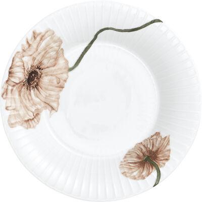 Hammershøi Poppy Dyb tallerken Ø21 cm hvid med dekoration