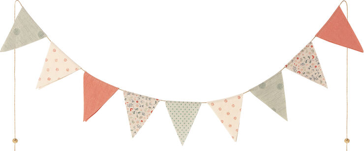 Garland, 9 flags - Multi color