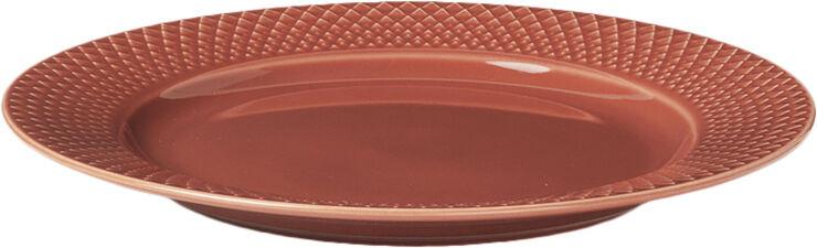 Rhombe Frokosttallerken Ø23 cm terracotta porcelæn