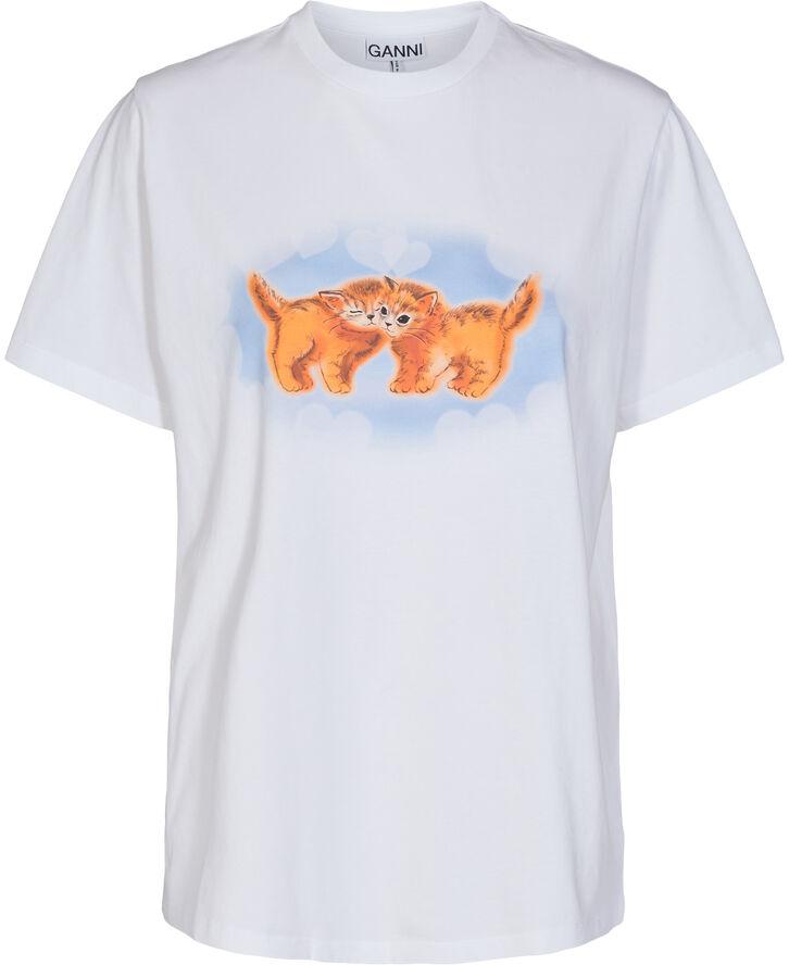 T-Shirt, White Cat