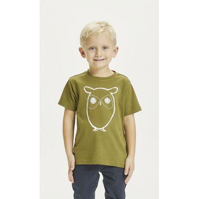 FLAX owl tee - GOTS/Vegan