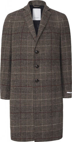 Madison Wool Check Coat