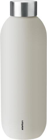 Keep Cool termoflaske, 0,6 l. - sand/steel
