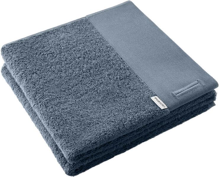 Håndklæde m strophul 50x100cm Steel blue