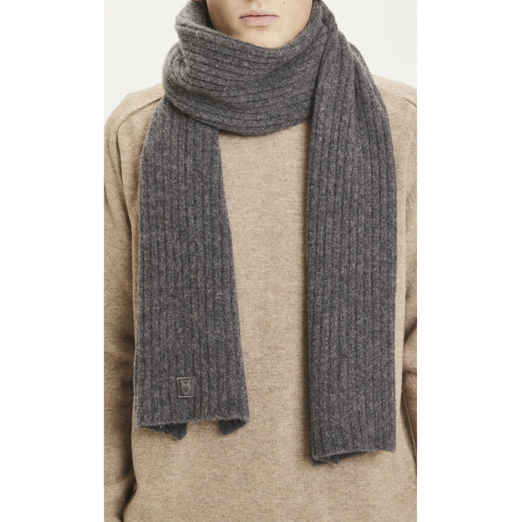 JUNIPER rib organic wool scarf
