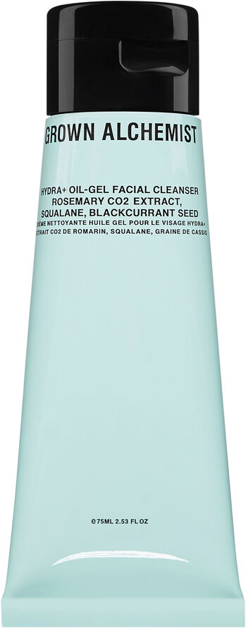 Hydra+ Oil-Gel Facial Cleanser: Rosemary Co2 Extract, Squalane, Blackc
