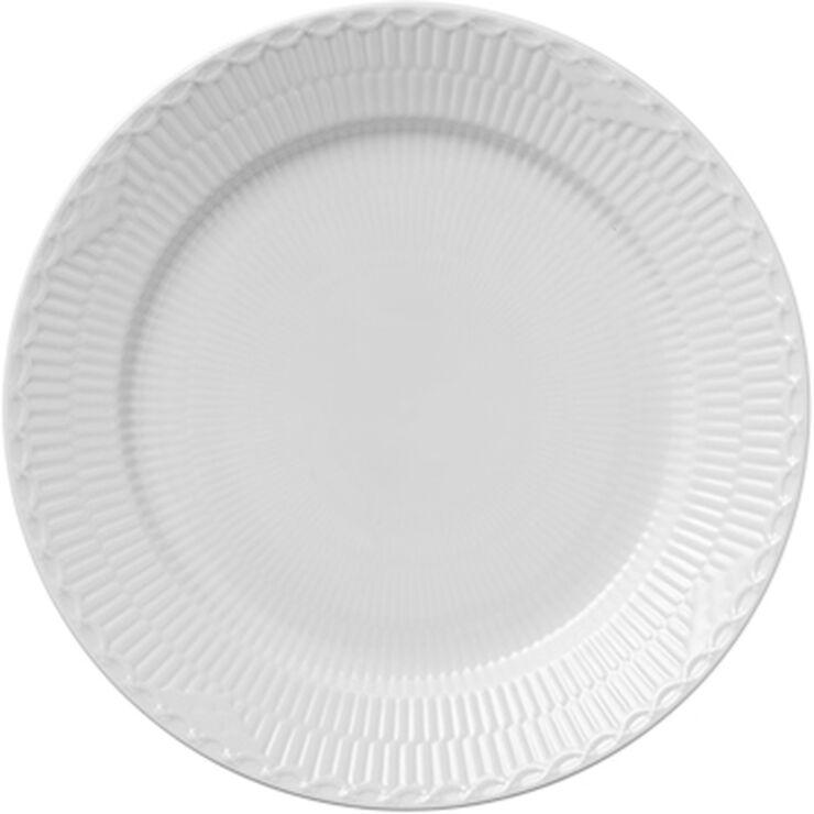 Hvid Halvblonde 27 cm. tallerken