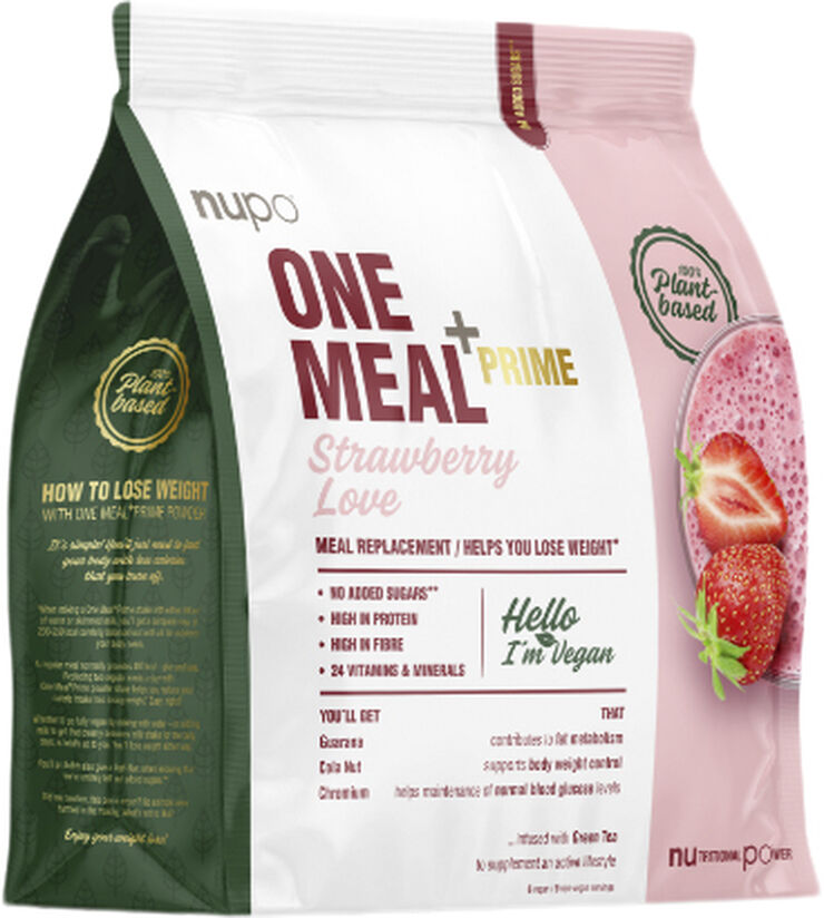 One Meal +Prime Strawberry Love Powder