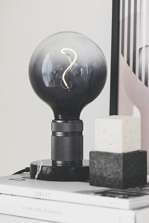HALO  Bordlampe E27, Gun-Black / Marmor fod