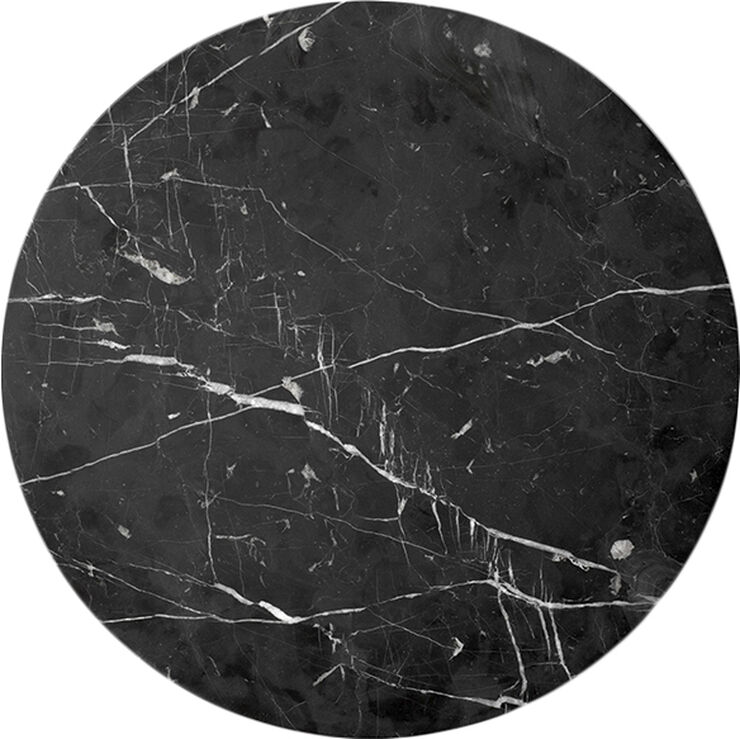 Androgyne Table Top for Side Table, Black Marble