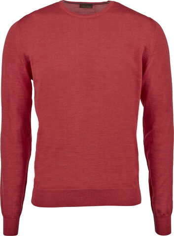 Coral Merino Crew Neck With Patches
