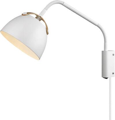 OSLO Væglampe Ø16 hvid-eg