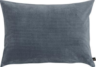 Høie fløjlsvelour bomuld UNA blå 70x100