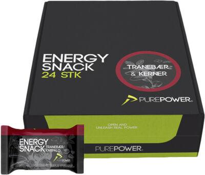Energy Snack Tranebær 60 g 24 stk.