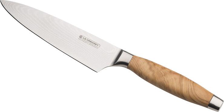 Kokkekniv m/ oliventræsskaft 15 cm