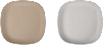Plate silicone 2-pack brown/feather grey