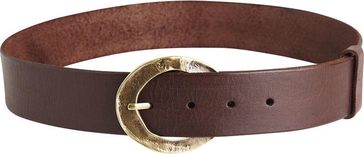 Hammered buckle hip belt